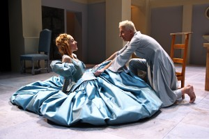 Cate Scott Campbell and Steven Epp in South Coast Repertory's 20