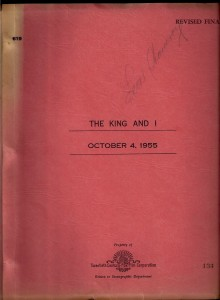 king and i script