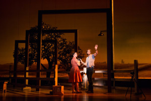 "Elizabeth Stanley and Andrew Samonsky in the Tony Award-winning ""The Bridges of Madison County"" The Broadway Musical at the Center Theatre Group/Ahmanson Theatre, December 8, 2015, through January 17, 2016. ""Bridges"" has a book by Marsha Norman, music and lyrics by Jason Robert Brown and is based on the novel by Robert James Waller. Bartlett Sher directs. Tickets are available at CenterTheatreGroup.org or by calling (213) 972-4400.   Contact: CTG Media and Communications / (213) 972-7376 CTGMedia@centertheatregroup.org  Photo by Matthew Murphy"