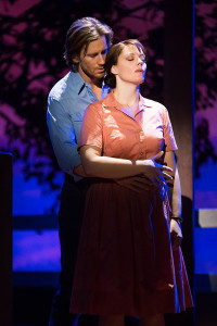 "Andrew Samonsky and Elizabeth Stanley in the Tony Award-winning ""The Bridges of Madison County"" The Broadway Musical at the Center Theatre Group/Ahmanson Theatre, December 8, 2015, through January 17, 2016. ""Bridges"" has a book by Marsha Norman, music and lyrics by Jason Robert Brown and is based on the novel by Robert James Waller. Bartlett Sher directs. Tickets are available at CenterTheatreGroup.org or by calling (213) 972-4400.   Contact: CTG Media and Communications / (213) 972-7376 CTGMedia@centertheatregroup.org  Photo by Matthew Murphy"