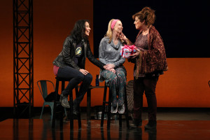 "South Coast Repertory presents the world premiere of ""The Madwoman in the Volvo"" by QSandra Tsing Loh, directed by Lisa Peterson. Cast: Caroline Aaron (Actress A), Shannon Holt (Actress B) and Sandra Tsing Loh (Sandra). Julianne Argyros Stage, January 3-24, 2016"