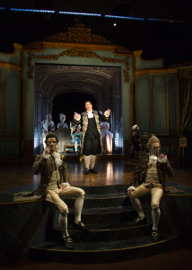 The cast of Amadeus in South Coast Repertory's 2016 production b