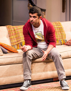 "Behzad Dabu in Ayad Akhtar's Pulitzer-winning play ""Disgraced,"" which plays at Center Theatre Group/Mark Taper Forum at the Los Angeles Music Center June 8 through July 17, 2016. For tickets and information, please visit CenterTheatreGroup.org or call (213) 628-2772. Contact:  CTG Media and Communications/ (213) 972-7376/CTGMedia@ctgla.org Photo by Craig Schwartz."