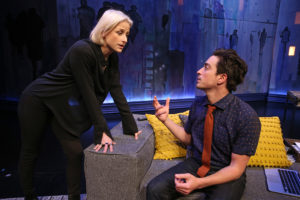 Mamie Gummer and Ben Feldman in the South Coast Repertory 2017 w