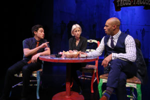Ben Feldman, Mamie Gummer and Dominique Worsley in the South Coa